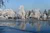 Fischweiher (Pixelkids) Tags: weiher winter rauhreif frost fischweiher olching bayern deutschland spiegelung