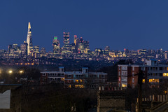 Blue Eye Of The City... (JH Images.co.uk) Tags: shard london gherkin bluehour night skyline city architecture art cityscape tower 42 leadenhall cheesegrater walkietalkie bridge woodland road