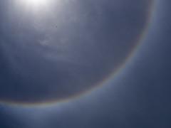 Half halo. (Pablin79) Tags: sky rainbow color bird nature blue sun light abstract colors weather atmosphere argentina halo phenomenon misiones posadas