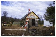 Christmas Tree Station_DSC6932 photoshop NIK edit © (nkatesphotography) Tags: honeyhollownationalaudubon newhope nikond4 nikonafs35mmf18 scenic landscape outdoors historic