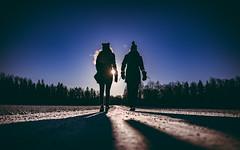 The Walk (jarnasen) Tags: panasonicdmclx100 lx100 handheld freehand lowangle dirtroad backlight sun sweden family recreation light sunlight linköping sverige promenad walking people candid