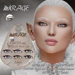 MIRAGE-Mesh Eyes- Adagio (MirageSL) Tags: mirage second life sl catwa lelutka mesh eyes simone bento appliers hud
