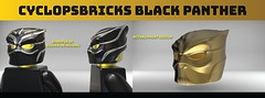 CyclopsBricks Civil War Helmet (CyclopsBricks) Tags: lego batman minifigure custom injection 3d molded printed black civil panther war dc nightwing robin cyclopsbricks myles dupont