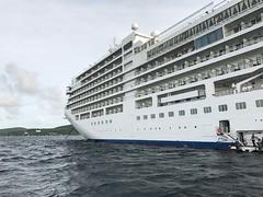 Arriving shipside
