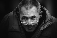 (-) (dagomir.oniwenko1) Tags: humans street style portrait person portret people portraits ritratto retrato eyeglasses face blackandwhite bw men male man mono lincoln lincolnshire life england expression