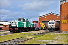 Taller para todo (Trenes2000) Tags: geco 311 311102 adif prima renfe 333 3334 jop gijon taller salamanca tractores tractor deposito motor trenes2000 locomotoras locomotora