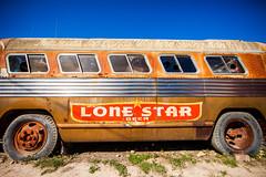 The Loneliest Lone Star (Thomas Hawk) Tags: america austin brokenspoke lonestar lonestarbeer texas usa unitedstates unitedstatesofamerica beer bus fav10 fav25 fav50
