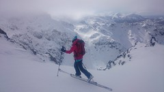 ski touring in a normal patagonia day