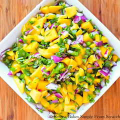 Mango Salsa (1 of 1) (Serena Bakes Simply From Scratch) Tags: appetizer jalapeno lime mango onions recipe salsa