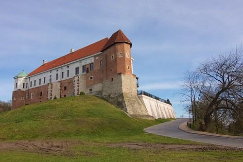 Zamek w Sandomierzu od południowego zachodu