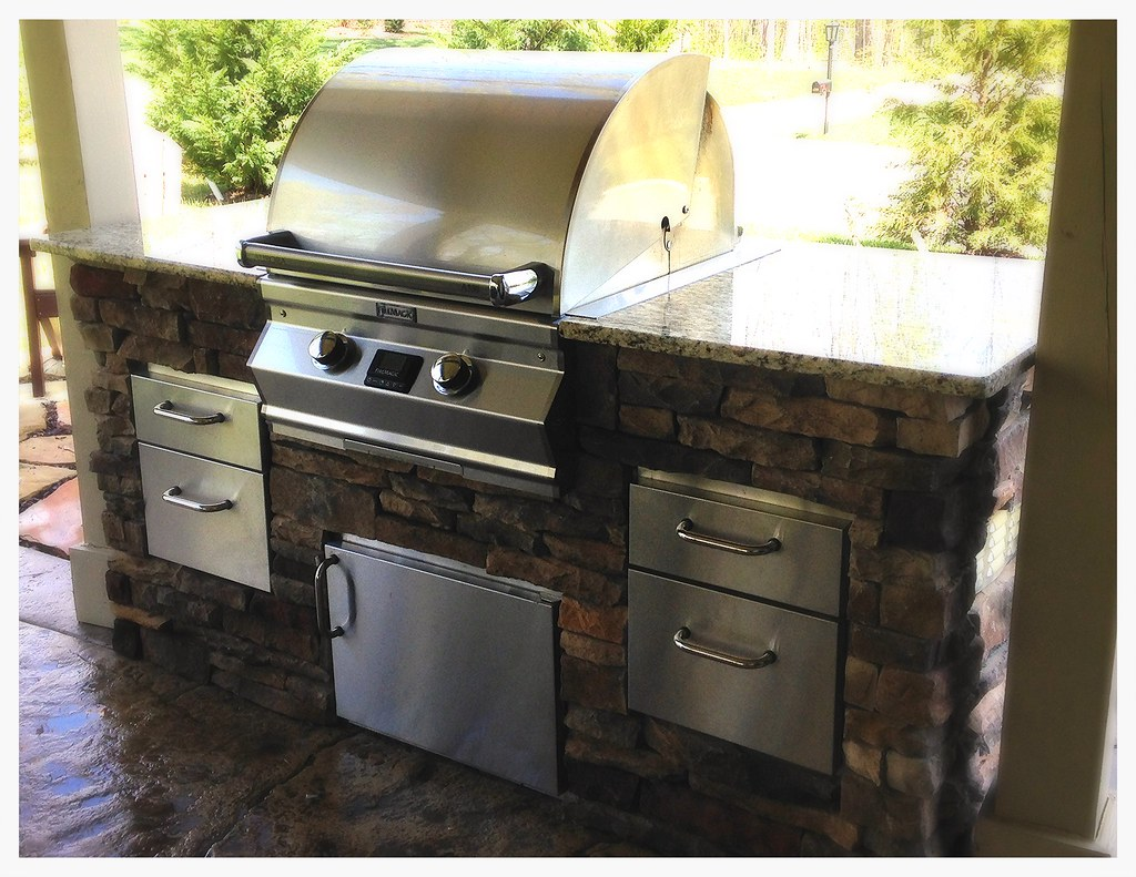 Fire Magic A530 in custom outdoor kitchen. Chattanooga, Tn.