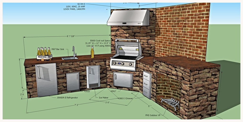 Design for Custom Fire Magic Outdoor Kitchen, Ooltewah, TN