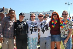 """Getting ready to Parade at the Jigsaw Garden - Plymouth Pride 2015 • <a style=""""font-size:0.8em;"""" href=""""http://www.flickr.com/photos/66700933@N06/20621351502/"""" target=""""_blank"""">View on Flickr</a>"""