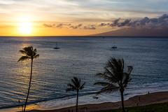 Ka'anapali Beach Sunset, Maui - 6 (www.bazpics.com) Tags: ocean sunset sea summer usa cloud sun west color colour beach water clouds america island hawaii islands us sand unitedstates pacific dusk maui hawaiian hi lahaina kaanapali