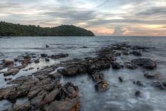 HDR-10 (JVMaramis) Tags: ocean sunset sea seascape beach clouds island cambodia sihanoukville juan shoreline hdr jvm maramis canon70d kohtakiev juanmaramis