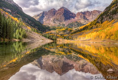 October 1, 2015 - A classic image of the Maroon Bells. (Debbi Kibler)