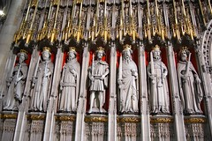 Kings' Screen in York Minster (mademoisellelapiquante) Tags: york uk england statue architecture cathedral yorkshire medieval yorkminster englishhistory gothicarchitecture