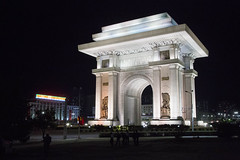 The Triumphal Arch in Pyongyang by night (bvoneche) Tags: kp pyongyang coredunord