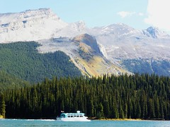 Maligne Lake, Jasper NP (2015-09-12) 026 (MistyTree Adventures) Tags: lake canada mountains nature water outdoors boat nationalpark jasper alberta kayaking jaspernationalpark malignelake cruiseboat