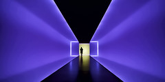Into The Heart II ~ The Light Inside (Mabry Campbell) Tags: harriscounty houston houstonmuseumoffineart jamesturrell mfah museumoffineart tx texas thelightinside turrell usa unitedstatesofamerica architecture blue colorimage colorful commercialphotography design fineartphotography gerry image interior museum person photo photograph photography sculpture silhouette tunnel walkway f40 mabrycampbell august 2015 august12015 20150801h6a8439 17mm ¹⁄₃₀sec 2500 ef1740mmf4lusm