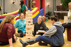 Game night (SUNY Geneseo) Tags: game fall night big events large event inflatable knight late gamenight activity inauguration kw activities inaugural geneseo 2015 glk fall2015