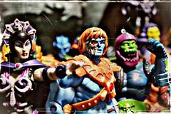 Faker....attack!!! (rebelwithcauses) Tags: skeletor eternia mastersoftheuniverse evillyn trapjaw castlegrayskull webstor motuclassics