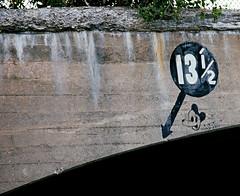 13.5 (Patrick Copley) Tags: bridge film 35mm fuji massachusetts signage velvia100 clearance mickymouse canonae1p clintonmass fd135mmf28