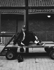 Ollie (jaakehitchcock) Tags: portrait white man black photography photo university object palace photograph portraiture bournemouth supreme universit