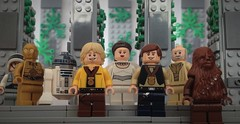 Yavin 4 - The Throne Room (hachiroku24) Tags: new hope gold star lego room 4 luke ceremony royal award solo r2d2 wars han throne chewbacca leia c3po ending skywalker medals yavin