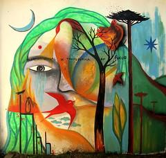 toda la sangre se transforma en fuego (Felipe Smides) Tags: sol agua mural viento luna vida resistencia fuego aire sangre pintura tierra valdivia mapuche muralismo uach smides felipesmides