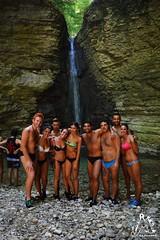 Majellando con gli amici alla Cascata di Cusano - Majella - Abruzzo - Italy