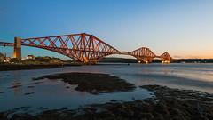 Forth Bridge, Scotland, UK (ksagphotos) Tags: bridge sunset sky heritage history architecture evening engineering rail forth
