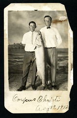 f_ish1armboy (ricksoloway) Tags: corpuschristi americana photohistory vintagephotos foundphotos gonefishing antiquephotos rppc fishphotos phototrouvee bigfishpix