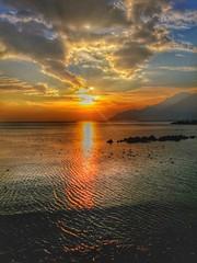 Sunset (Salerno : la costiera amalfitana dal Lungomare Tafuri) (eudibi) Tags: sunset italy nature water night seaside tramonto campania amalficoast lg g3 salerno costieraamalfitana lgg3