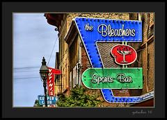 The Bleachers (the Gallopping Geezer '4' million + views....) Tags: sign signage building structure business store storefront ad advertise advertisement bar restaurant drink tavern pub food hancock mi michigan upperpeninsula smalltown mainstreet cqnon 5d3 tamron 28300 geezer 2016 roadtrip