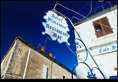 161022-1094-XM1.jpg (hopeless128) Tags: france sky eurotrip 2016 sign building shutters champagnemouton nouvelleaquitaine fr