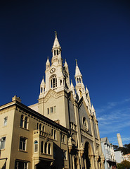 St Peter and Paul (wyattgphotography) Tags: stpeterandstpaul normajean dimagio church sanfranciscochurch blue beauty history explore northbeach