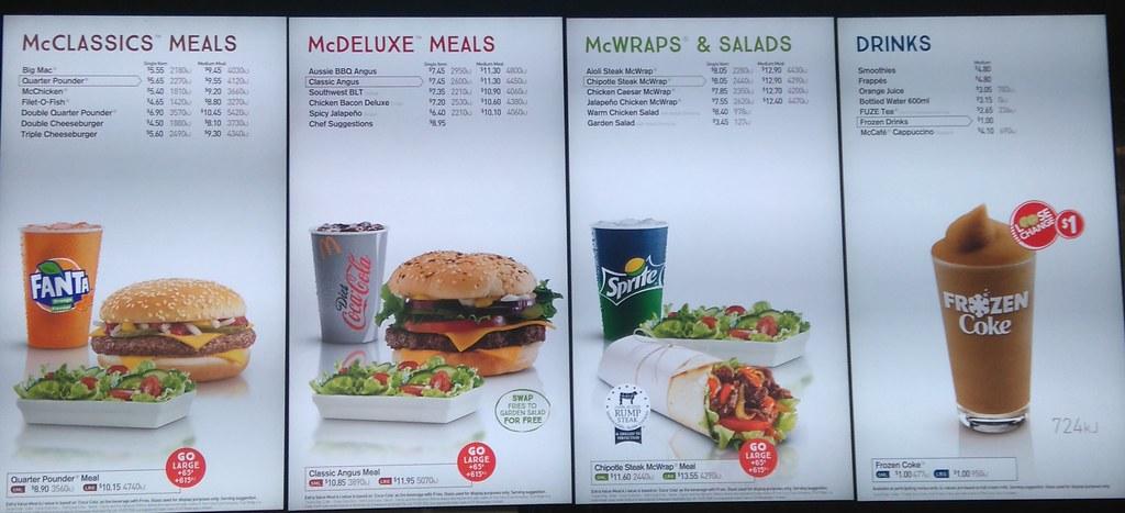 Mcdonalds Drink Menu Prices Australia