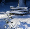Concealing cover (:Linda:) Tags: germany thuringia village bürden snow broken bench