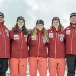 Women's BC Ski Team with their coaches