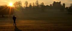Wollaton Park runner (stevebeck66) Tags: park run runner winter frost crisp dawn sunrise nottingham wollaton hall