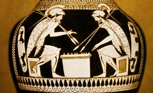 "Petteia - Ludus Latrunculorum  / Iconografía de las civilizaciones helenolatinas • <a style=""font-size:0.8em;"" href=""http://www.flickr.com/photos/30735181@N00/31710156413/"" target=""_blank"">View on Flickr</a>"