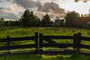 Fence. (Alex-de-Haas) Tags: dutch holland nederland netherlands noordholland zaanseschans clouds gras grass grasslands landscape landschap meadow meadows oerhollands summer sunny weiland weilanden wolken zomer zonnig