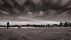 Golfing into oblivion (jreyt27510) Tags: timestack blackwhite bw monochrome outdoor golf