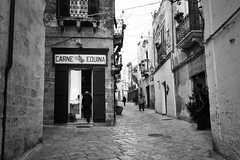 Macelleria - Oria - Brindisi (Stefano Trojani) Tags: oria brindisi puglia salento bw blackandwhite black street south italy italia