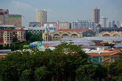 Singapore city view from Fort Canning park (UweBKK (α 77 on )) Tags: singapore southeast asia city state island urban sony alpha 77 slt dslr cityscape fort canning park view vista clarke quay