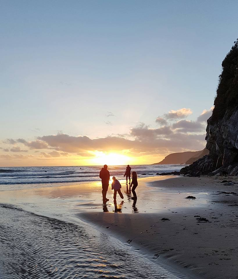 Sunset at Caswell Bay