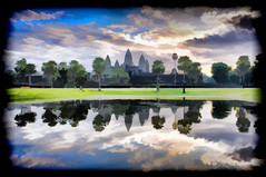 Ankor Wat Lake View Impression (Neville Wootton Photography) Tags: ankorarchaeologicalpark ankorwat cambodia holidays impressions lakescapes mangojouneys topazlabs