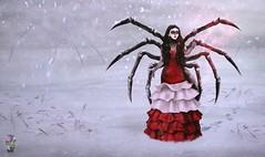 "Contest ""Sweet Venom"" - Arachne (NotTheReal Novaland) Tags: bublik sweetvenom ultravi01ettnn secondlife second life sl art screen winter white red spider arachne oc contest after kendrasy creations sintiklia dreamcetcher"