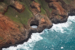 Sea Cave (Aschae) Tags: doorsoffhelicopter helicoptertour jackharterhelicopters napalicoast seacave hawaii kauai